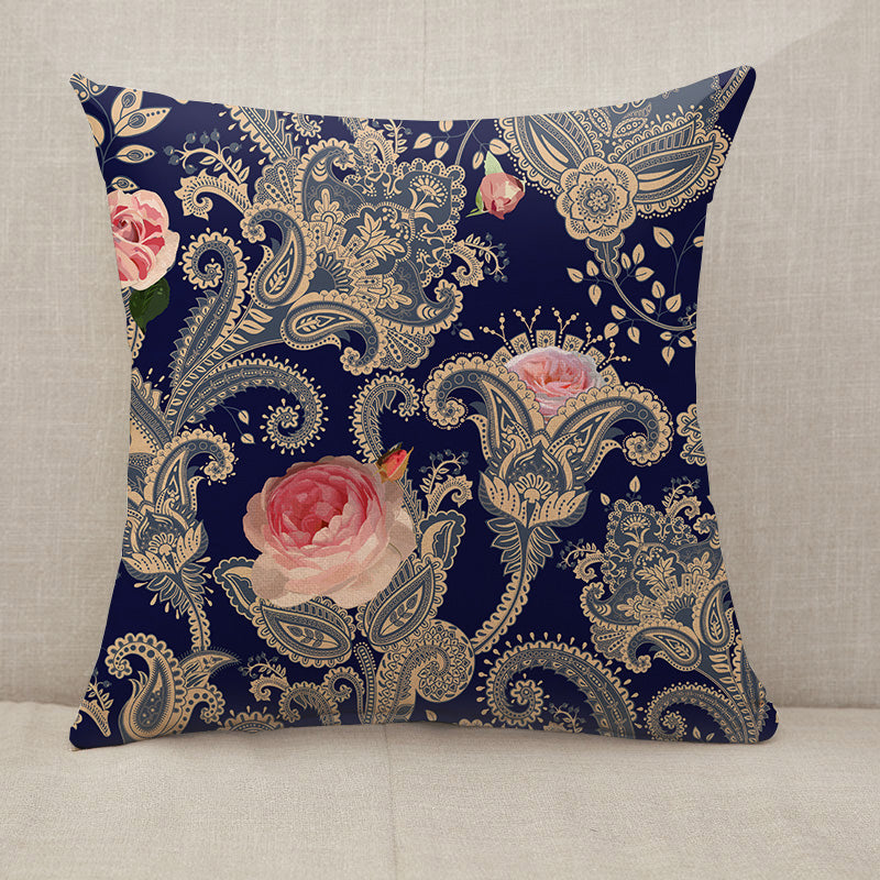 Indian floral backdrop Throw Pillow [With Inserts]