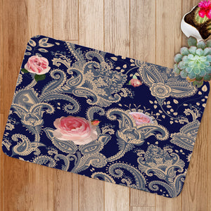 Indian floral backdrop Bath Mat