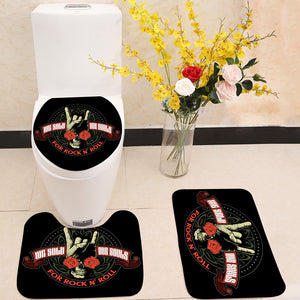 Hard rock 3 Piece Toilet Cover Set