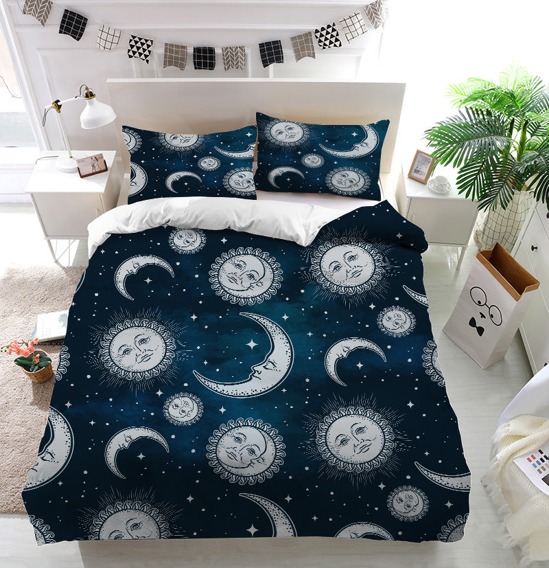 Boho sun and moon Duvet Cover Bedding Set