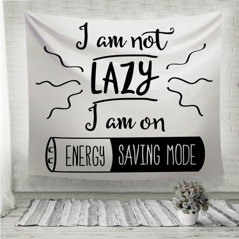 Energy saving mode Wall Tapestry