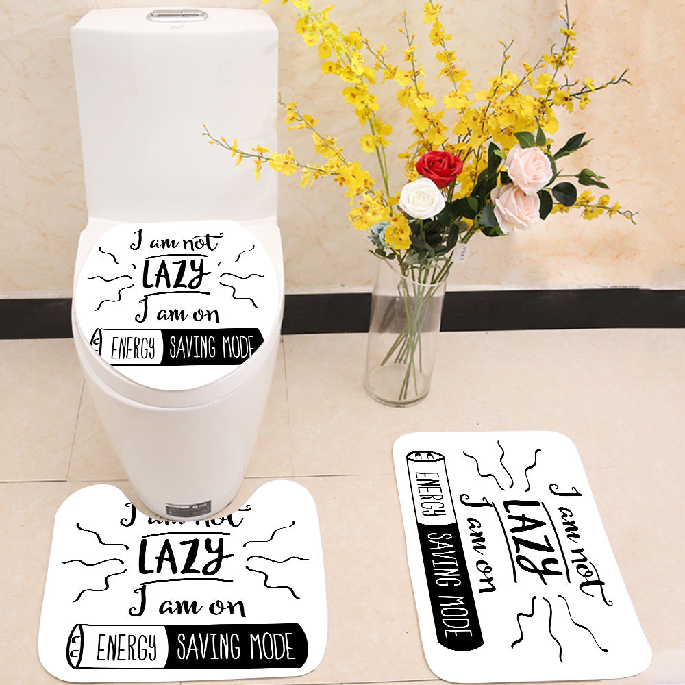 Energy saving mode 3 Piece Toilet Cover Set