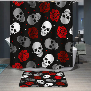 Skulls and roses pattern Shower Curtain