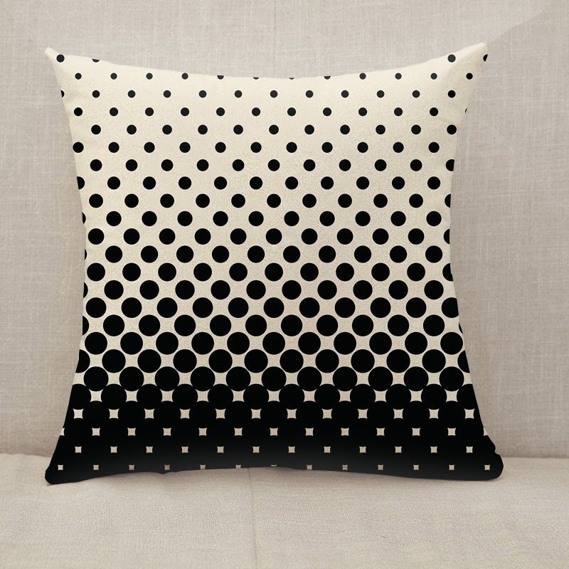 Circles halftone black and white pattern Throw Pillow [With Inserts]