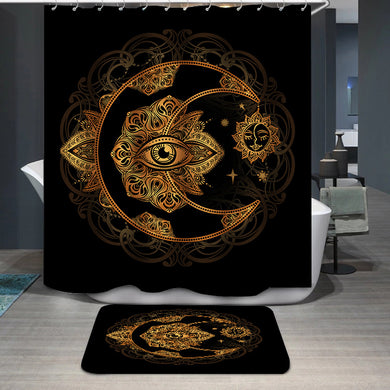 Alchemy moon sun Shower Curtain