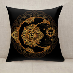 Alchemy moon sun Throw Pillow [With Inserts]
