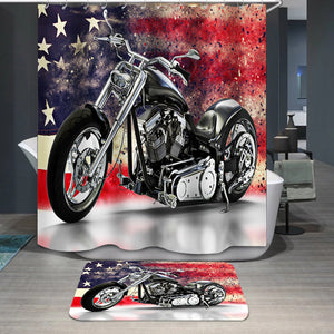 American motorcycle Shower Curtain