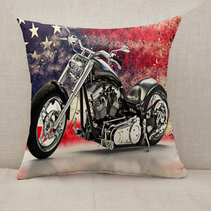 American motorcycle Throw Pillow [With Inserts]