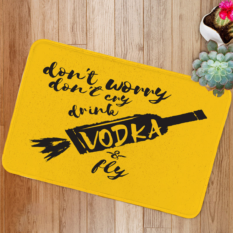 Drink VODKA and fly Bath Mat