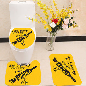 Drink VODKA and fly 3 Piece Toilet Cover Set