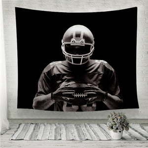 American football player Wall Tapestry