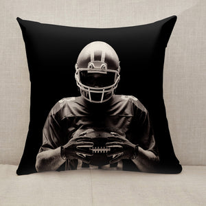 American football player Throw Pillow [With Inserts]