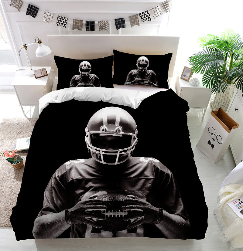 American football player Duvet Cover Bedding Set