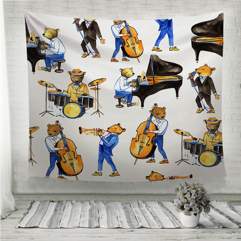 Jass band music Wall Tapestry