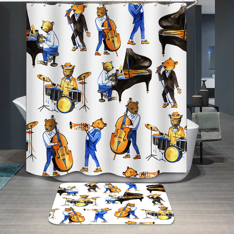 Jass band music Shower Curtain
