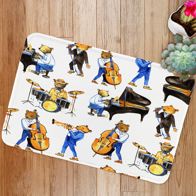 Jass band music Bath Mat