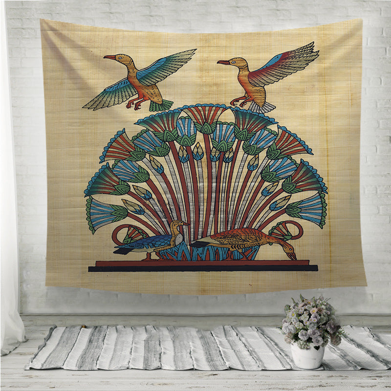 Egyptian papyrus birds Wall Tapestry