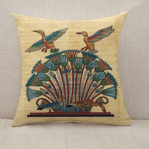 Egyptian papyrus birds Throw Pillow [With Inserts]