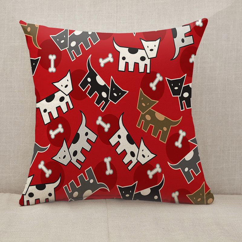 Spotted doggies pattern Throw Pillow [With Inserts]