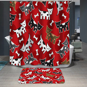 Spotted doggies pattern Shower Curtain
