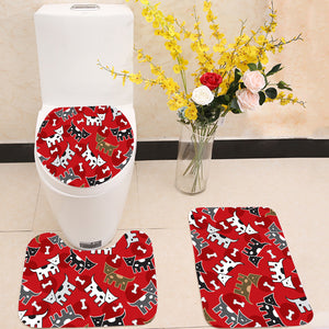 Spotted doggies pattern 3 Piece Toilet Cover Set