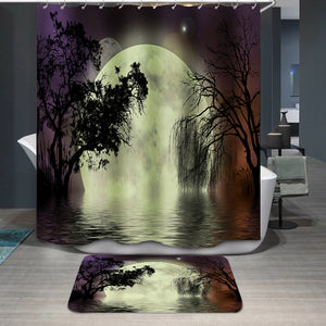 Moon fairy background Shower Curtain