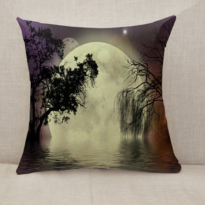 Moon fairy background Throw Pillow [With Inserts]