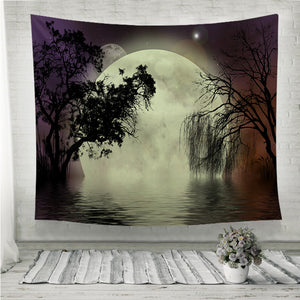 Moon fairy background Wall Tapestry
