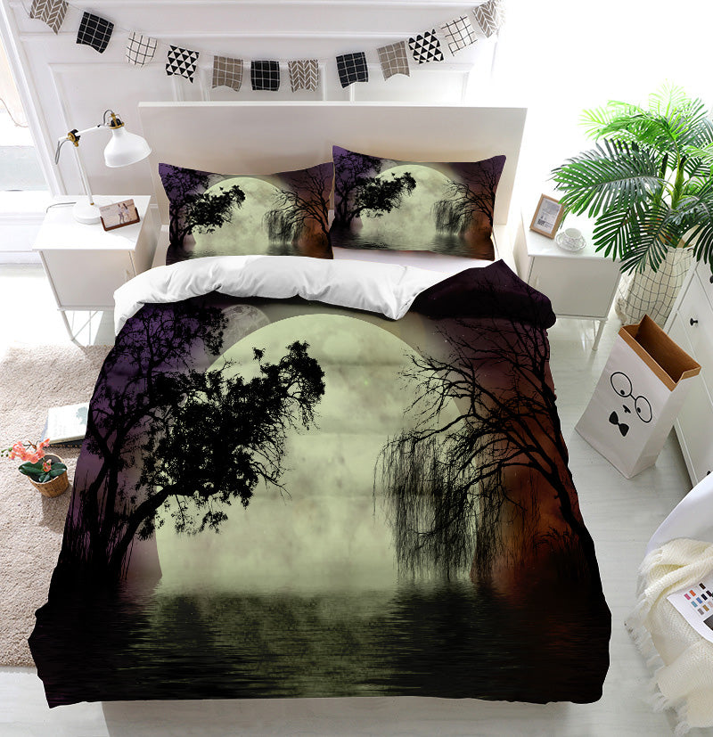 Moon fairy background Duvet Cover Bedding Set