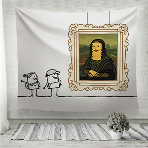 Mona Lisa cartoon Wall Tapestry