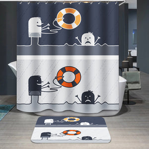 Rescue cartoon Shower Curtain