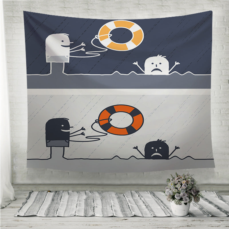 Rescue cartoon Wall Tapestry