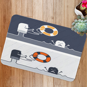 Rescue cartoon Bath Mat