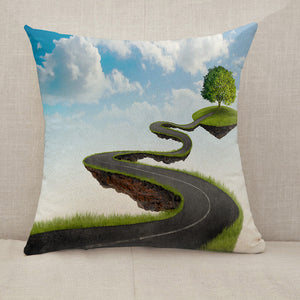 Road to tree Throw Pillow [With Inserts]