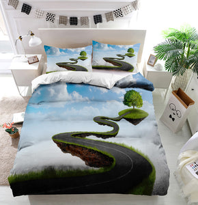 Road to tree Duvet Cover Bedding Set
