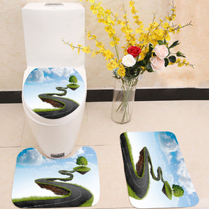 Road to tree 3 Piece Toilet Cover Set
