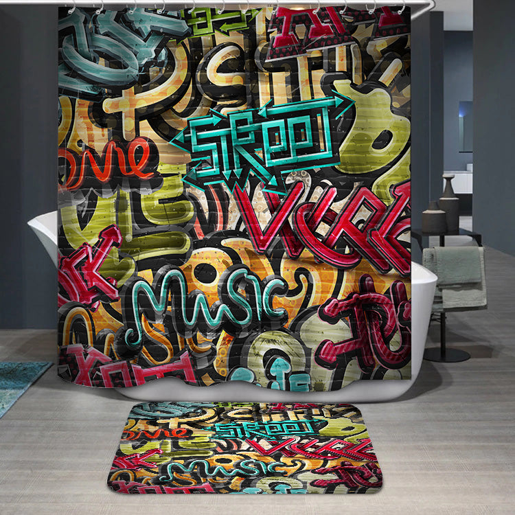 Graffiti grunge texture Shower Curtain