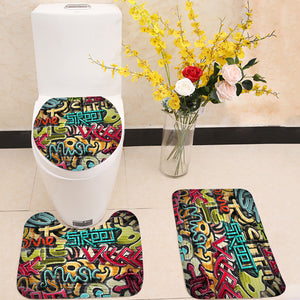 Graffiti grunge texture 3 Piece Toilet Cover Set