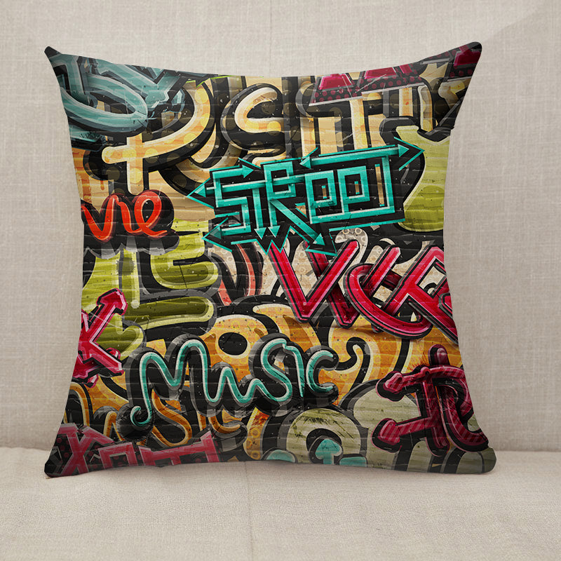 Graffiti grunge texture Throw Pillow [With Inserts]