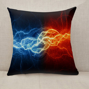 Fire and ice lightning Throw Pillow [With Inserts]