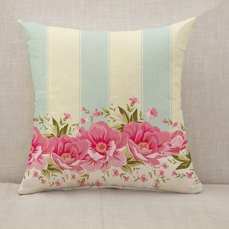 Ornate pink flower Throw Pillow [With Inserts]