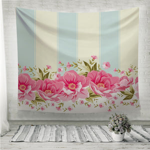 Ornate pink flower Wall Tapestry