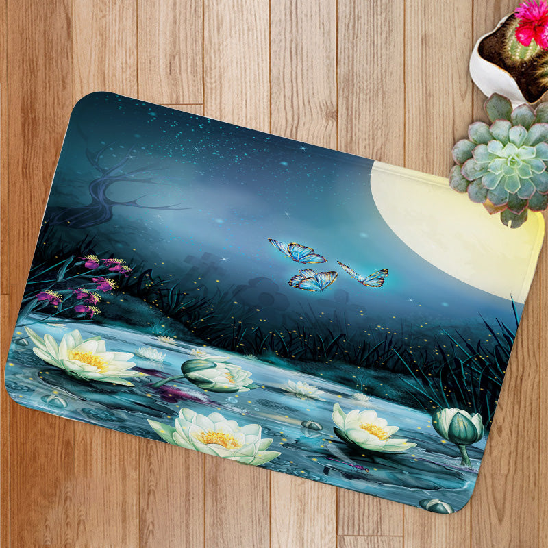 Starry Night in the swamp Bath Mat