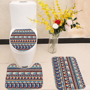Tribal vector pattern 3 Piece Toilet Cover Set