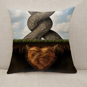 Growing In Love Trees Throw Pillow [With Inserts]