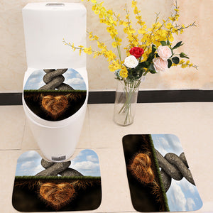 Growing In Love Trees 3 Piece Toilet Cover Set