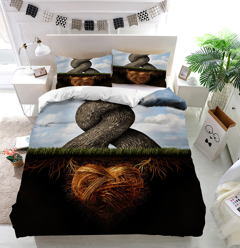 Growing In Love Trees Duvet Cover Bedding Set