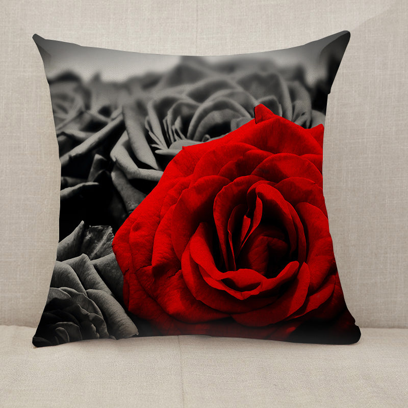 Red rose black roses Throw Pillow [With Inserts]