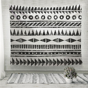 Black and white tribal pattern Wall Tapestry
