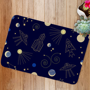 Night sky cartoon Bath Mat